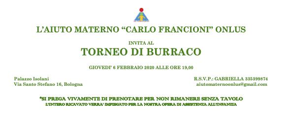 Torneo di Burraco 6 febbraio 2020
